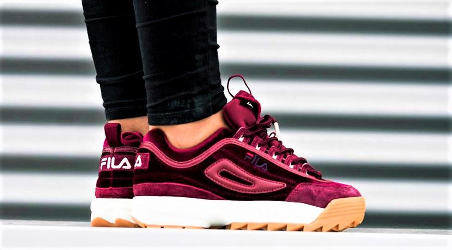 chaussure fila femme bordeau